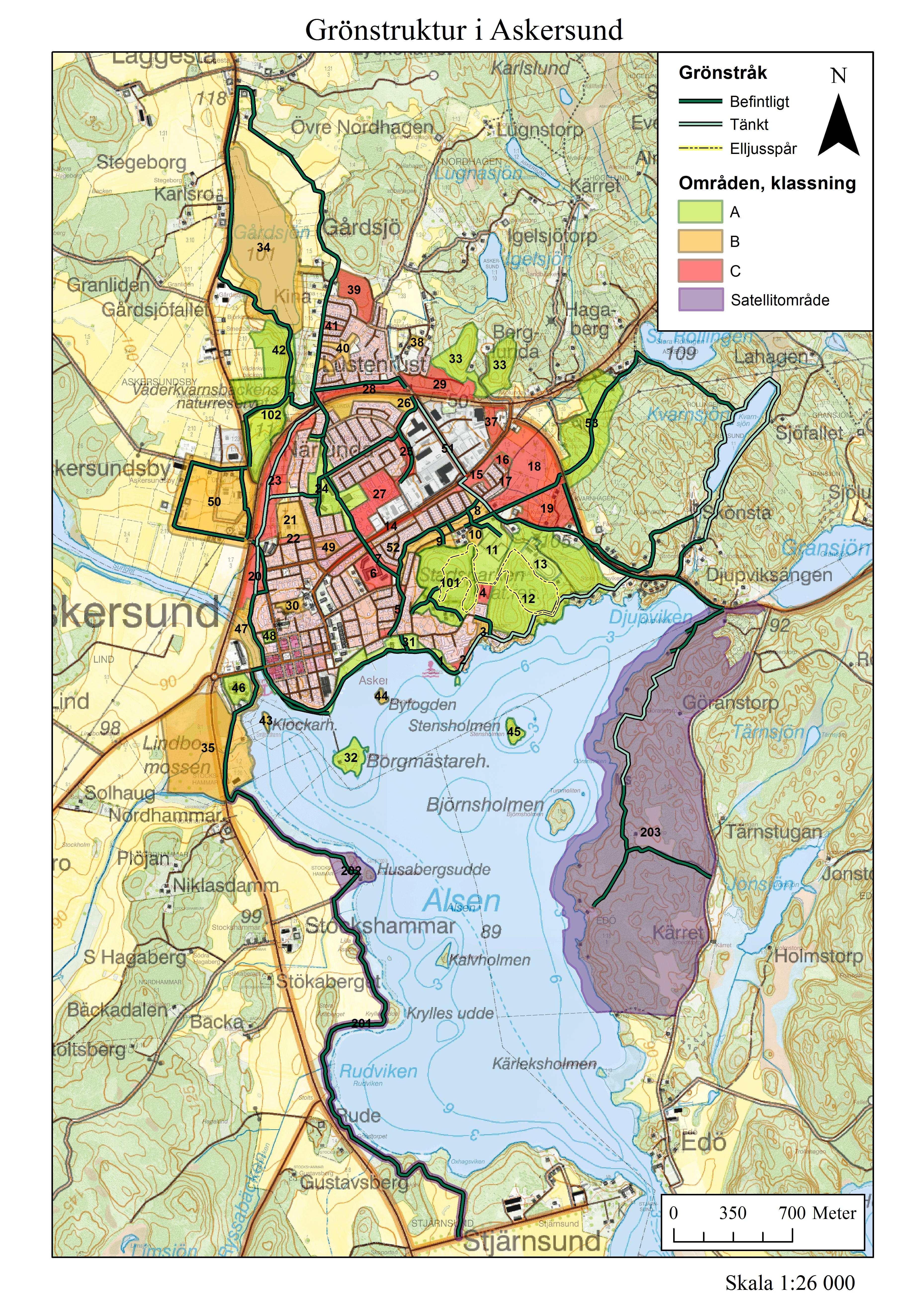 askersund karta Grönstruktur i Askersund   Sydnärkes miljöförvaltning askersund karta